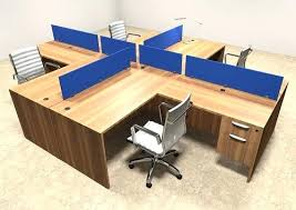 office workstation desks. Four Person Table Blue Divider Office Workstation Desk Set Salesperson In Oracle Apps Desks