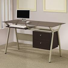 office table with glass top. Top 63 Class Glass Office Desk Black Computer Modern Small With Drawers Finesse Table
