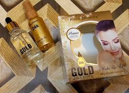 kiss beauty 2 in 1 makeup fix gold primer spray