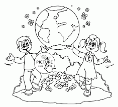 Small Picture Kids showing Earth Earth Day coloring page for kids coloring