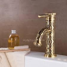 brushed brass bathroom faucet. Exquisite Carving Antique Brass Bathroom Faucet Brushed Y