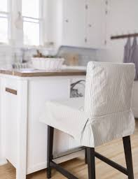 learn how to sew a parsons chair slipcover for the ikea henriksdal bar stool this henriksdal chair cover sewing pattern includes a video tutorial