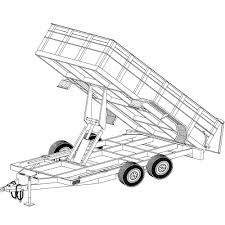Get quotations · 14'x6'4 hydraulic dump trailer plans blueprints