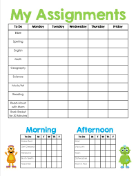 homeschool assignment chores sheet printable homeschool homeschool assignment chores sheet printable