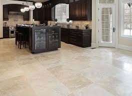 Travertine Flooring In Kitchen Lovely On Regarding Floors Ideal Wood Tile 8