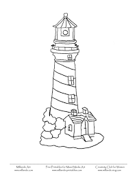 Small Picture simple lighthouse Printable Lighthouse Coloring Pages Lighthouse