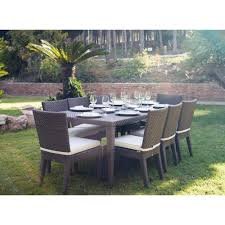 image alt text pelican reef atlantis patio large rectangular dining set in brown