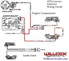 corvette wire schematic ammeter willcox corvette inc 1975 corvette wire schematic ammeter