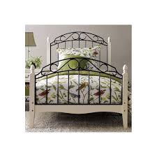 solo wood metal bed frame white black loading zoom