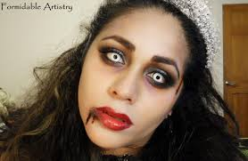 zombie prom queen bride makeup tutorial