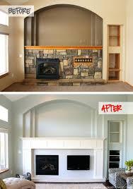 how to build a rustic fireplace mantel shelf diy shelves over brick