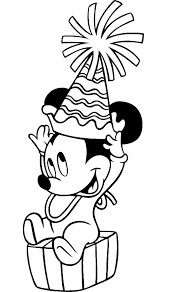 Baby Mickey Coloring Page Free Download