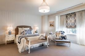 beautiful semi flush ceiling light in bedroom traditional with master bedroom chandelier next to tea table alongside sheer window treatments and beige bedroom chandelier lighting