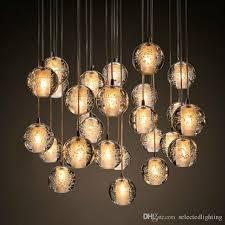 glass droplet chandelier elegant modern bubble crystal chandeliers lighting g4 led bulb light meteor of glass