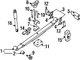 parts com® nissan bush rear sprin partnumber 5504701g10 2004 nissan frontier sve v6 3 3 liter gas suspension components