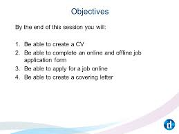 Objective Job Application Applying For A Job Unit 462 Objectives By The End Of This