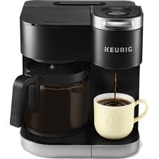 This coffee maker is generously sized to make up to 12 cups of coffee. K Duo Single Serve Carafe Coffee Maker