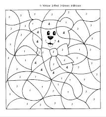 Color By Numbers Christmas Coloring Pages Math Worksheets