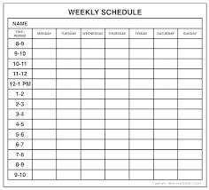 Blank Schedule Printable Schedule Templates Template Blank Weekly Calendar