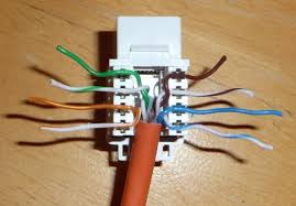 data wiring cat6 cat 6 wires laid over socket