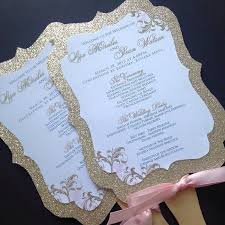 Wedding Program Fans Cheap Wedding Fan Programs Glitter Wedding Fan Programs Gold Wedding
