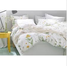 ikea strandkrypa twin duvet cover pillowcase set botanical green yellow white pink fl
