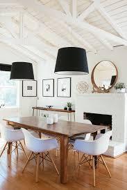 high low modern farmhouse dining room
