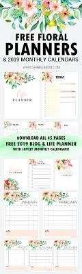 Monthly Planner Free Download 2019 Free Printable Calendars Lolly Jane