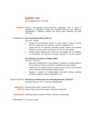 Event Coordinator Resume Sample Word Picture Template New Customer