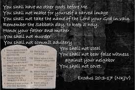 Exodus 20:3-17. The 10 Commandments - Wellspring Christian Ministries