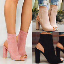 <b>Women's Peep Toe</b> Ankle <b>Boots</b> | eBay