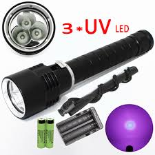 Water Light Flashlight Us 24 53 49 Off 3x Uv Led Scuba Diving Flashlight Underwater Water Torch Purple Light Ultraviolet Lamp Lantern Diver 2x18650 Battery Charger In