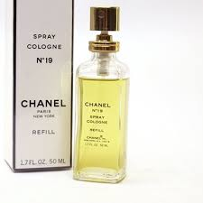 chanel 9 perfume. chanel fragrance no.19 refill 50 ml spray colon used chanel spray cologne refill bag 9 perfume