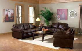 dark living room furniture. Luxurious Dark Brown Leather Sofa Set Coated Wooden Coffee Table White Area Rug Two Wall. Modern Living Room Furniture W