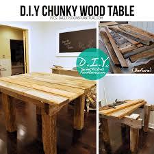 chunky wood