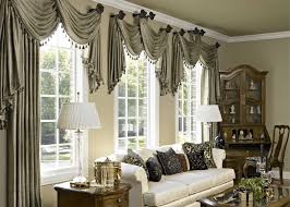 Awesome Appealing Design Living Room Window Treatments Ideas With Gray For  Drapes Room ...