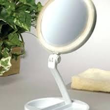 10x fold away lighted travel makeup mirror d111a plus led folding vanity 1