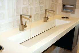 commercial bathroom sinks and counters concrete restroom sink fixtures