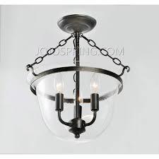 jojo spring antique copper finish glass flushmount chandelier