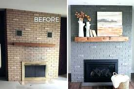 inside fireplace paint inside fireplace brick fireplace makeover before and after pics the gray paint we inside fireplace paint