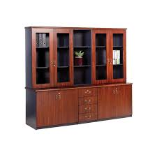 wall unit glass doors open bookcase