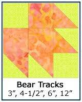 Free Quilt Block Patterns Library & ... Bear Tracks quilt block tutorial ... Adamdwight.com