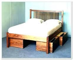 pedestal bed frame. Fine Pedestal Pedestal Bed Frame Platform With Storage Plans Drawers Queen Wood King Throughout A