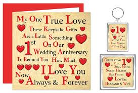 dels about 1st 70th our wedding anniversary card gifts husband wife one true love