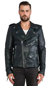 leather jacket 5 blk dnm