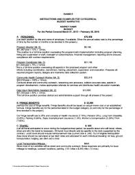 Editable Example Operating Budget For Home Health Agency - Fill Out ...
