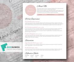 Download Free Resume Builder Resumes Touch Of Pink A Beautiful Free Resume Template Freesumes