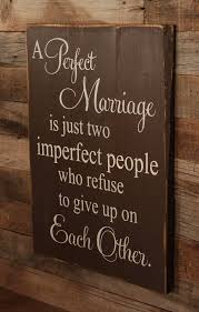 Marriage Quote Enchanting Large Wood Sign Farmhouse Sign A Perfect Marriage Subway Sign