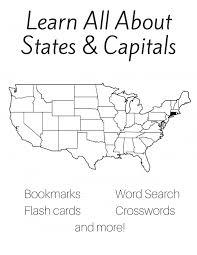Free 50 States and Capitals Printable Workbook   Slap Dash Mom