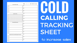 Sales Calls Tracking Template Cold Call Tracking Sheet And Tips